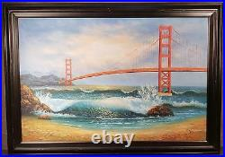 Large San Francisco Golden Gate Bridge California Painting By M. Taylor