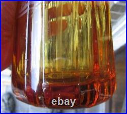 Meyer Bottling San Francisco California Amber Tooled Top 12 1/2 Seltzer Bottle