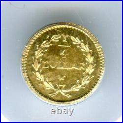 ND(1853) Rd Lib G25C California Fractional Gold / BG-222 PCGS (OGL) MS63