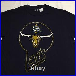 NEW Vtg 70s Levis San Francisco Sheriff Longhorn Made In USA T Shirt Mens Large
