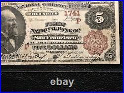 National Bank Note San Francisco California Brown Back PMG VF 20 Rare