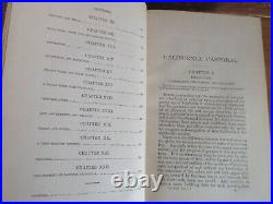Old 1769-1848 CALIFORNIA PASTORAL Leather Book 1888 SETTLERS INDIANS COWBOY WEST