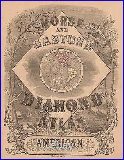 Original 1856 Antique Pre-Civil War Map WESTERN UNITED STATES Hand Colored