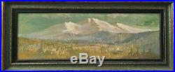 Perham Nahl Landscape Painting 1920 California, San Francisco Indian Encampment
