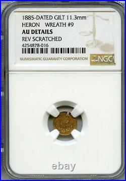 RARE 1885 Heron / Stork California Gold Token / NGC AU HR8