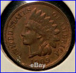 RARE 1909 S Indian Head Cent Penny MS BU UNC +++ PLUS RB BUY NOW OFFER