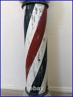 RARE Antique 1880s Original Barber Pole San Francisco California Find