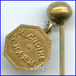RARE KLONDIKE/SUNSHINE CALIFORNIA CHARM ON PIN R7 / Original Pin / NGC POP 1