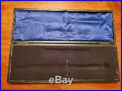 RARE Will & Finck Cased knife and garter, San Francisco California, gold rush