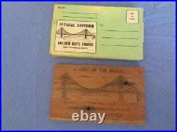 Rare 1937 Official Souvenir Piece of Golden Gate Bridge Redwood San Francisco CA