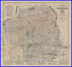 Rare Orig. 1915 Chevalier Map of San Francisco Panama Pacific International Expo