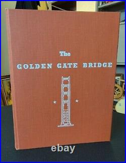Rare Vintage 1938 San Francisco GOLDEN GATE BRIDGE Report of Chief Engineer Book