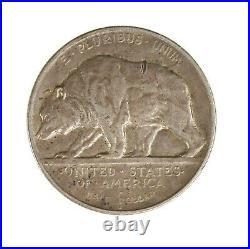 Raw 1925-S California 50C Circulated US Silver Half Dollar Comemmorative Coin