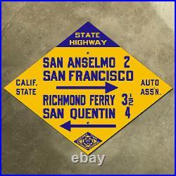 Richmond Ferry California CSAA San Francisco road sign auto club AAA highway