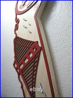 San Francisco 49ers Wood California State Plaque Approx 19 inches