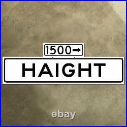 San Francisco California 1500 Haight Street blade road sign 1965 Ashbury 30x10
