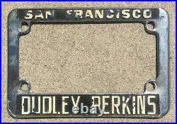 San Francisco California Dudley Perkins Vintage Harley Davidson License Frame