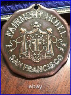 San Francisco California Fairmont Hotel Antique Key Fob