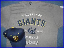San Francisco Giants Cal Hat & XXL T-shirt SF Cap University California Berkeley