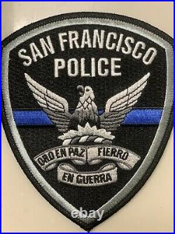 San Francisco Police Patch Thin Blue Line Patch EXTREMELY RARE