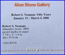 San Francisco School Bay Area Abstract Painting Signed Robert S Neuman 2005