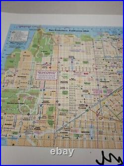 Sanfrancisco California City Map blotter art print signed by Mark McCloud