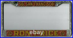 So. San Francisco California RON PRICE Volkswagen VW dealer license plate frame