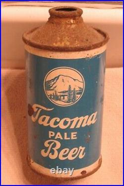 TACOMA Lager Beer, IRTP Cone Top beer can, Rainier, San Francisco, California