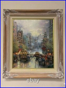 Thomas Kinkade A View Down California Street From Nob Hill S/N Canvas with CoA