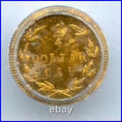 Toned 1875 G25C California Gold / BG-847 PCGS MS64