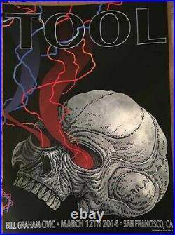 Tool San Francisco California 3/12/14 Mondo Rare Concert Poster Adam Jones Mint