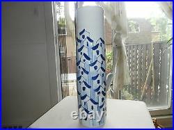 Unique Gumps San Francisco Ceramic Asian Blue Roofed Houses Village Large Vase