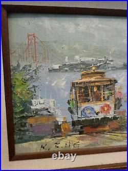 VINTAGE KEE FUNG NG (1941) California MID-CENTURY MODERN Oil San Francisco