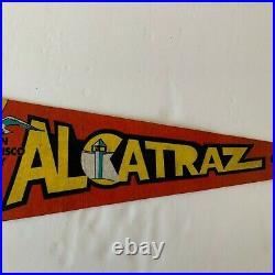 VTG Alcatraz The Rock San Francisco Bay CA Souvenir Pennant Flag 27 with Tag