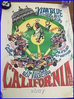 Vida Blue & Spam Allstars Poster 2004 Phish Pollock San Francisco California