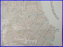 Vintage 1900 SAN FRANCISCO CALIFORNIA Map 22x14 Old Antique Original PRESIDIO