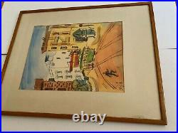 Vintage 1948 Signed San Francisco California Watercolor Painting