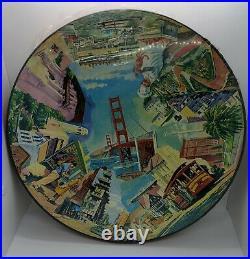 Vintage 1965 Springbok San Francisco Circular Jigsaw Puzzle