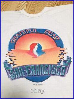 Vintage 1983 Grateful Dead Summer Tour San Francisco Jerry Garcia Raglan T Shirt