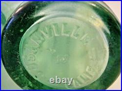 Vintage/Antique 1900's Coca Cola Bottle Aqua Green, 3 San Francisco California