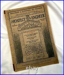 Vintage April 1910 The Architect & Engineer Of California Pacific Coast States