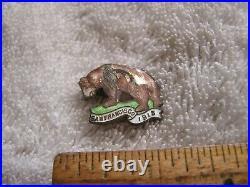 Vintage California Bear San Francisco Pin 1915