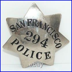 Vintage Obsolete San Francisco California Police Star Badge