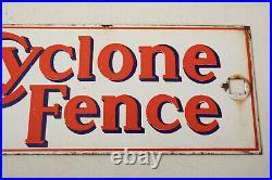 Vintage Porcelain Cyclone Fence Sign (E4R) San Francisco California 13.5 x4.25