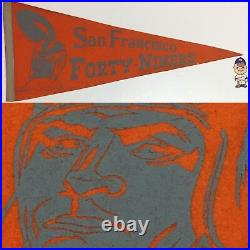 Vintage San Francisco 49'ers SF Pennant 11.5x29 Banner Football California Forty
