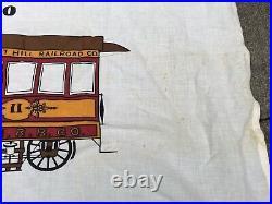 Vintage San Francisco Cable Car Flag 1873 1973 California RARE