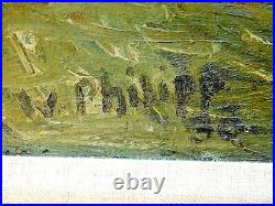 WERNER PHILIPP (1897-1982 San Francisco, CA) OLIVE TREE FRANCE, Signed, 1936