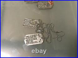 WW2 NOK Next of Kin Dog Tags San Francisco California Airborne Vet Buy Officer